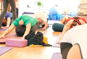 Child pose   Balasana   Peach Yoga